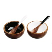 Just Slate Sheesham Wood Serving Bowl Set
