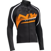 Northwave Extreme Graphic Long Sleeve Jersey - Black/Camo Orange