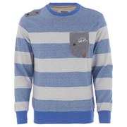 Smith & Jones Men's Casek Striped Sweatshirt - Le Mans Blue