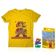 Super Mario Maker + Mario Modern Colour amiibo + T-Shirt