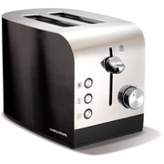 Morphy Richards 44209 Accents Polished 2 Slice Toaster - Black