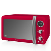 Swan SM22030RN Digital Microwave - Red - 800W