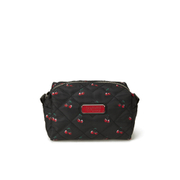Marc by Marc Jacobs Women's Crosby Quilted Nylon Large Cosmetic Bag - Cherry Print Black