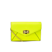 Diane von Furstenberg Women's Gallery Bitsy Small Leather Cross Body Bag - Yellow