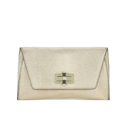 Diane von Furstenberg Women's Gallery Uptown Clutch Bag - Metallic Gold