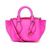 Diane von Furstenberg Women's Itsy Small Double Zip Leather Tote Bag - Pink