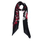 Diane von Furstenberg Women's Grace Heart Print Scarf - Black/Red