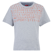 adidas Women's Stella Sport Gym Print T-Shirt - Grey