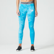 Myprotein Dames Tie Dye Core Leggings - Blauw