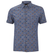 Vivienne Westwood Anglomania Men's Bob Short Sleeve Shirt - Blue/Navy