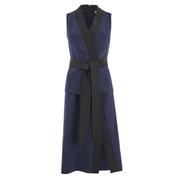 Lavish Alice Women's Sash Tie Detail Midi Dress - Navy/Black