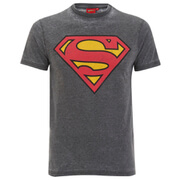 DC Comics Superman Burnout Herren T-Shirt - Grau