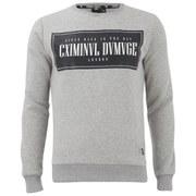 Criminal Damage Mens Since Sweatshirt - Grey