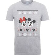 Disney Mickey Mouse Men's Christmas Mickey And Minnie T-Shirt - Heather Grey
