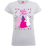 Disney Princess Women's Christmas Silhouettes T-Shirt - Heather Grey