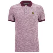 Lyle & Scott Vintage Men's Oxford Slub Pique Polo Shirt - Claret