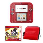 Nintendo 2DS Transparent Red + Pokémon Omega Ruby Pack