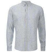 BOSS Orange Men's Espicye Checked Long Sleeve Shirt - White
