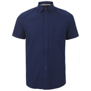 BOSS Orange Men's Eslimye Short Sleeve Shirt - Indigo
