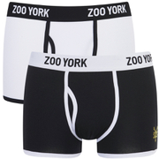 Zoo York Men's Rhino 2 Pack Boxers - Black/White
