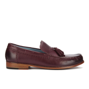 Genuine Moccasins by Grenson Men's Tassle Loafers - Burgundy