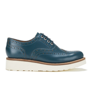Grenson Women's Emily V Leather Brogues - Teal