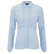 VILA Women's Pama Long Sleeve Shirt - Cashmere Blue