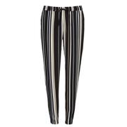 VILA Women's Striva Stripe Trousers - Black