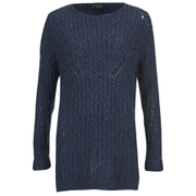 VILA Women's Lead Knitted Jumper - Total Eclipse