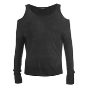 VILA Women's Count Cold Shoulder Jumper - Black
