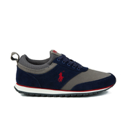 Polo Ralph Lauren Men's Ponteland Suede Sports Trainers - Newport Navy/Charcoal Grey