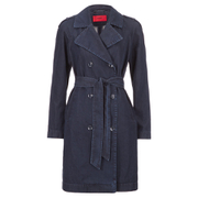 HUGO Women's Mintu Trench Coat - Blue