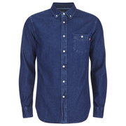 OBEY Clothing Men's Keble Woven Long Sleeve Shirt - Indigo