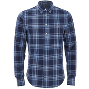 GANT Men's Madras Check Long Sleeve Shirt - Marine
