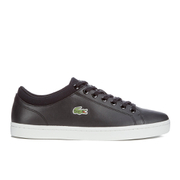 Lacoste Men's Straightset SPT 116 1 Leather Trainers - Black