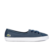 Lacoste Women's Ziane Chunky 116 2 Leather Lace Pumps - Navy