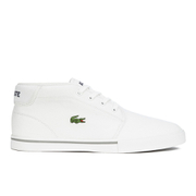 Lacoste Men's Ampthill LCR 2 Canvas Chukka Trainers - White