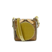 Orla Kiely Women's L'Orla 'OK' Mini Box Cross Body Bag - Tan Croc