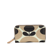 Orla Kiely Women's Stem Big Zip Wallet - Nude