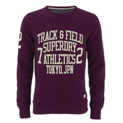 Superdry Men's Trackster Crew Sweatshirt - Fig