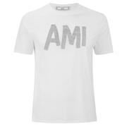 AMI Men's Front Logo Crew T-Shirt - White