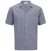 AMI Men's Collar Detail Short Sleeve Shirt - Chambray