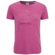 Scotch & Soda Men's Printed Crew Neck T-Shirt - Pink