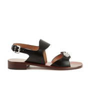 Carven Women's Flat Popper Sandals - Black