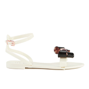 Ted Baker Women's Louwla Jelly Bow Ankle-Strap Sandals - Cream/Black