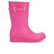 Hunter Women's Original Short Wedged Sole Wellies - Bright Cerise