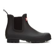 Hunter Men's Original Dark Sole Chelsea Boots - Black