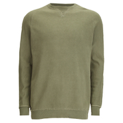 Maharishi Men's Raw Cross Crew Sweatshirt - Maha Olive