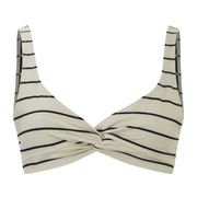 Solid & Striped Women's The Jane Bikini Top - Black & Cream Stripe