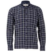 YMC Men's Check Rib Collar Shirt - Navy